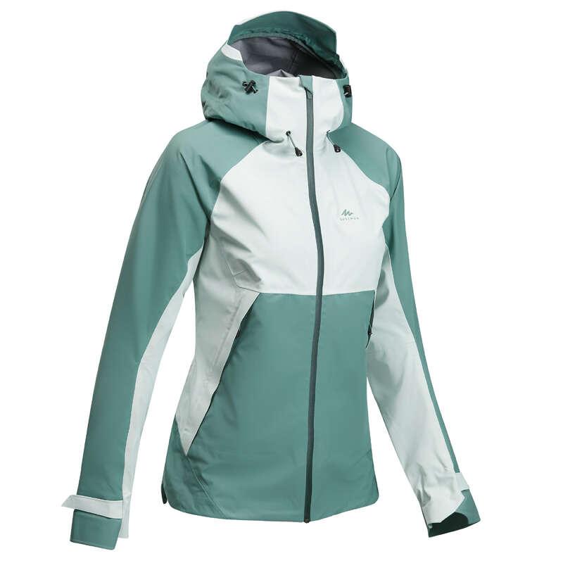 ЖЕНСКИЕ КУРТКИ ВОДОНЕПРОНИЦАЕМЫЕ/ ГОРНЫЕ ПОХОДЫ Одежда - Куртка жен. зеленая MH500 QUECHUA - Куртки