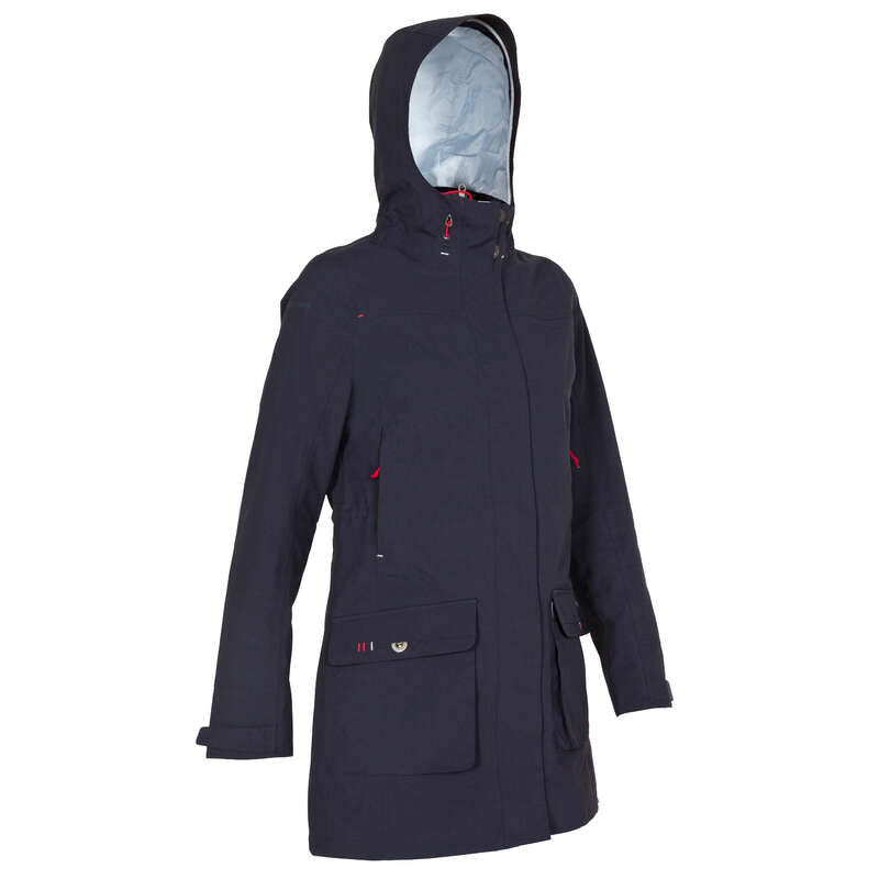 CRUISING RAINY WEATHER WOMAN CLOTHES Sailing - 500 Women's Oilskin - Blue TRIBORD - Sailing Clothing