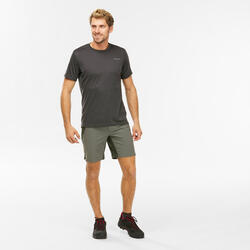 Men's mountain walking short-sleeved T-Shirt - MH100