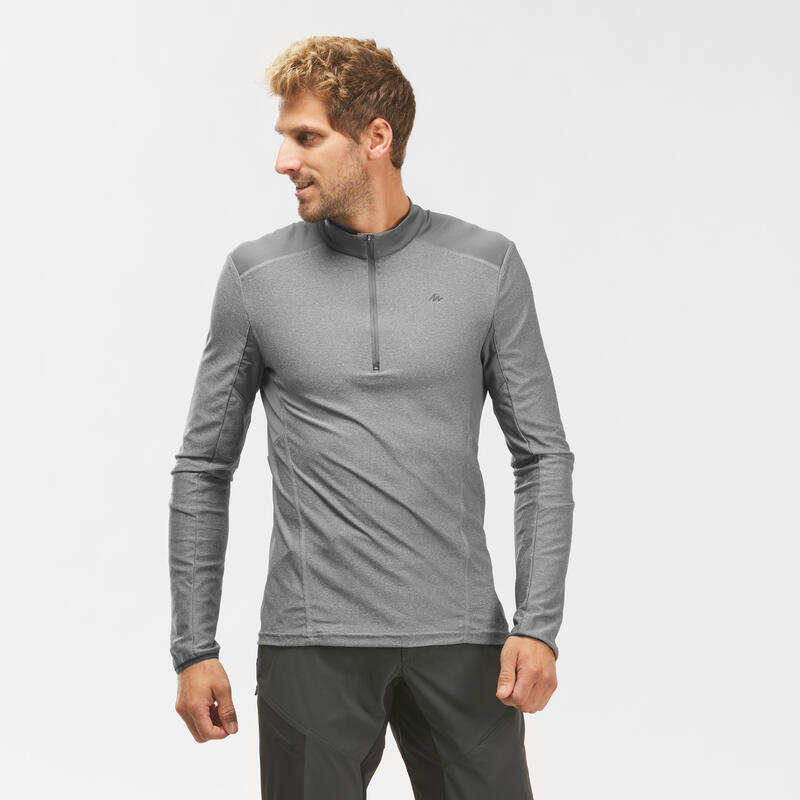 Men's Mountain Hiking Long-Sleeved T-Shirt - MH550