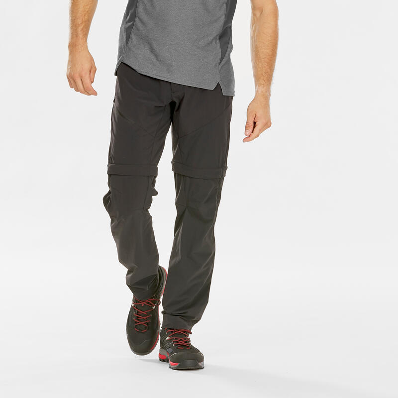 Men's convertible mountain hiking trousers - MH550