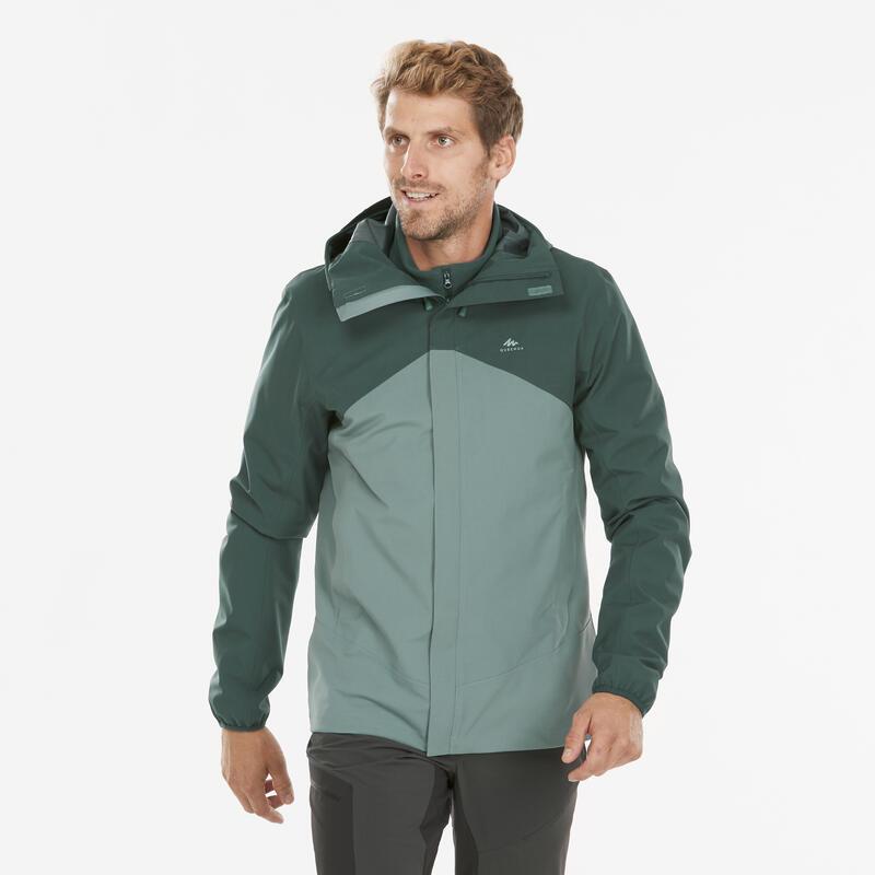 Men's waterproof mountain hiking jacket - MH150