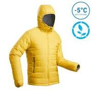 M Mountain Trekking Padded Jacket - Comfort -5°C - TREK 100 with Hood - Yellow