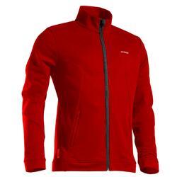 保暖網球外套TJA500 - 海軍藍配紅色
