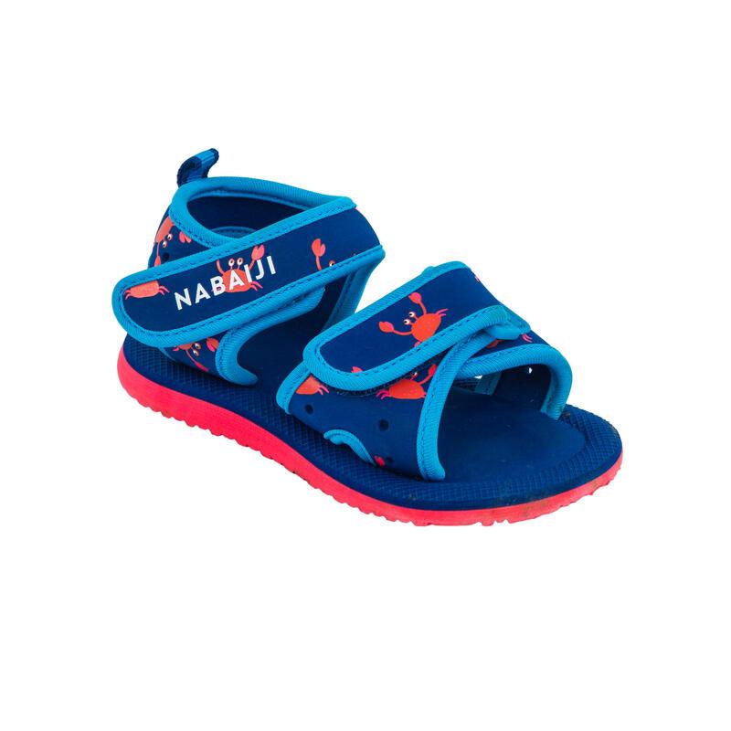 Sandales piscine bébé / enfant bleu
