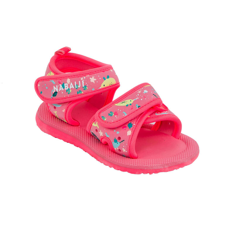 Sandale înot Imprimeu Roz Bebe