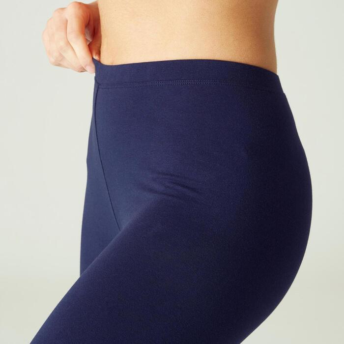 Legging Coton Fitness Salto Bleu Marine