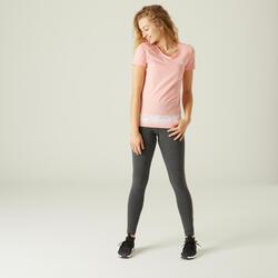T-Shirt Adidas Slim Femme Rose