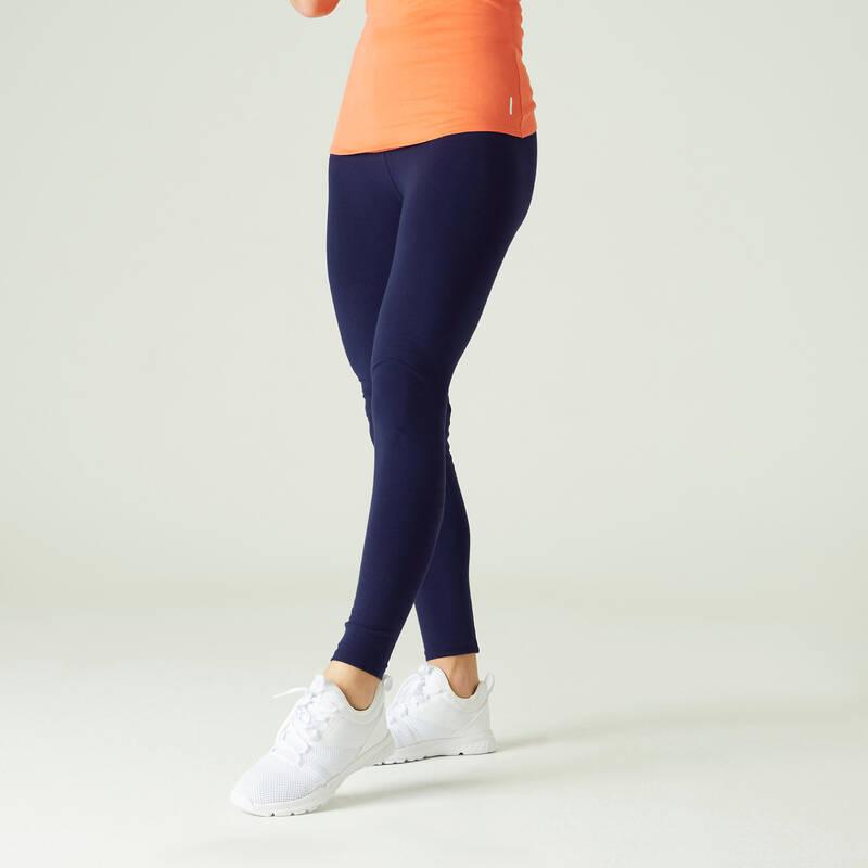 DÁMSKÁ TRIČKA, LEGÍNY, KRAŤASY Fitness - DÁMSKÉ LEGÍNY 100 NA CVIČENÍ NYAMBA - Fitness oblečení a boty