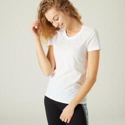 T-shirt voor fitness wit