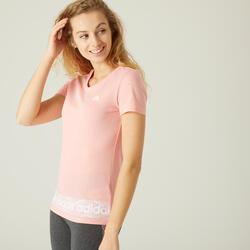 Gym T-Shirt voor dames Slim roze