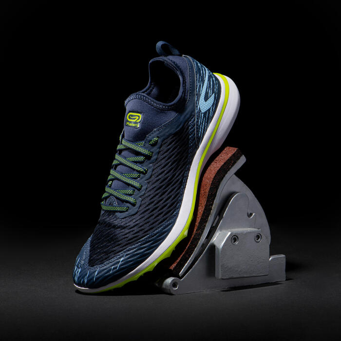 Atletiekschoenen Training Track blauw/geel