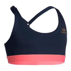 女童運動內衣AT 500 - 軍藍色