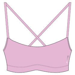 女款有氧健身運動內衣100 - 淡紫色