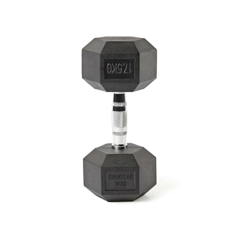 Mancuerna Hexagonal HEX Dumbbell 17,5 kg. Singular WodMusculación Cross Fitness
