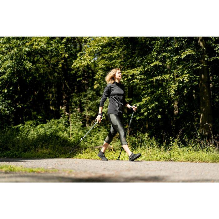 Par de Bastões Telescópicos de Caminhada Nórdica NW P120 Preto/Verde/Cinzento