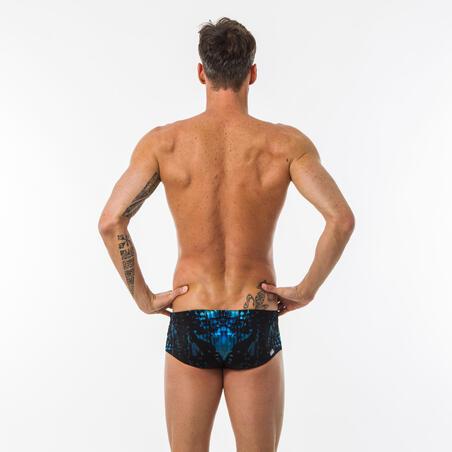 Men's Square-cut Swim Briefs 900 Leo Green