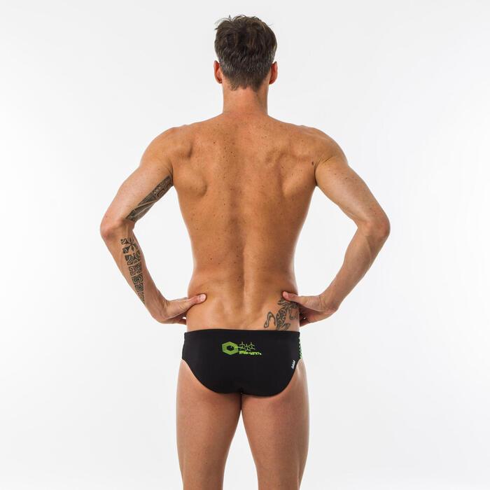 男款印花三角泳褲900 - GANI、黃色