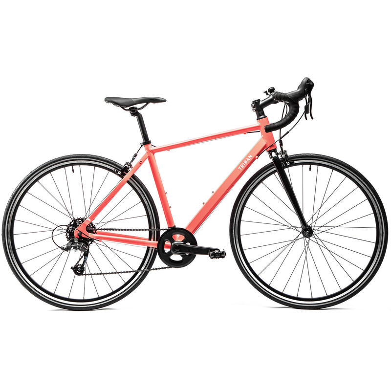 Women's Road Bike Triban Easy - Coral