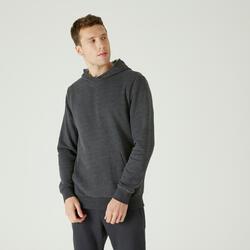 Camisola de Cardio-training com Capuz e Bolso Canguru Cinzento Escuro