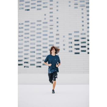 男款透氣跑步短褲RUN DRY+ - 黑色