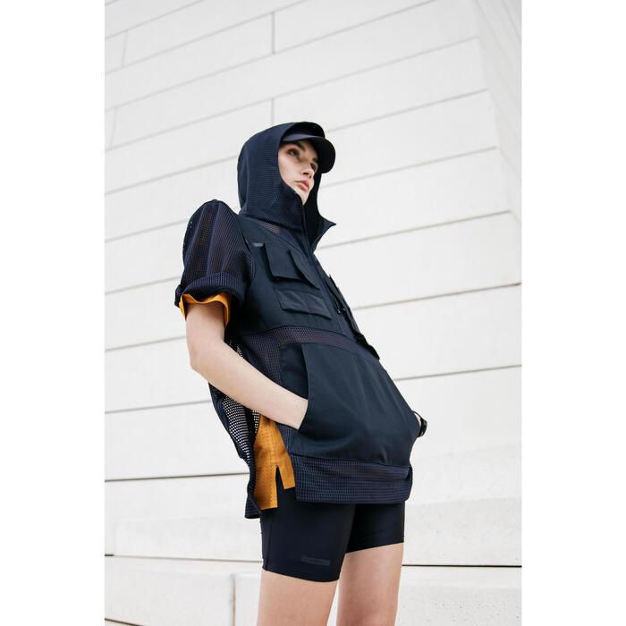 女款跑步緊身短褲Run Dry - 黑色