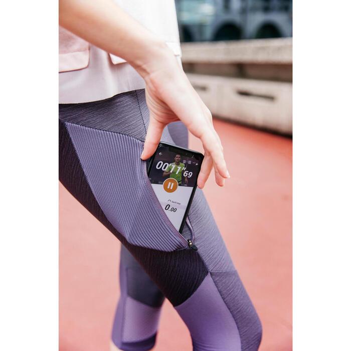 女款跑步七分褲RUN DRY + FEEL - 紫色