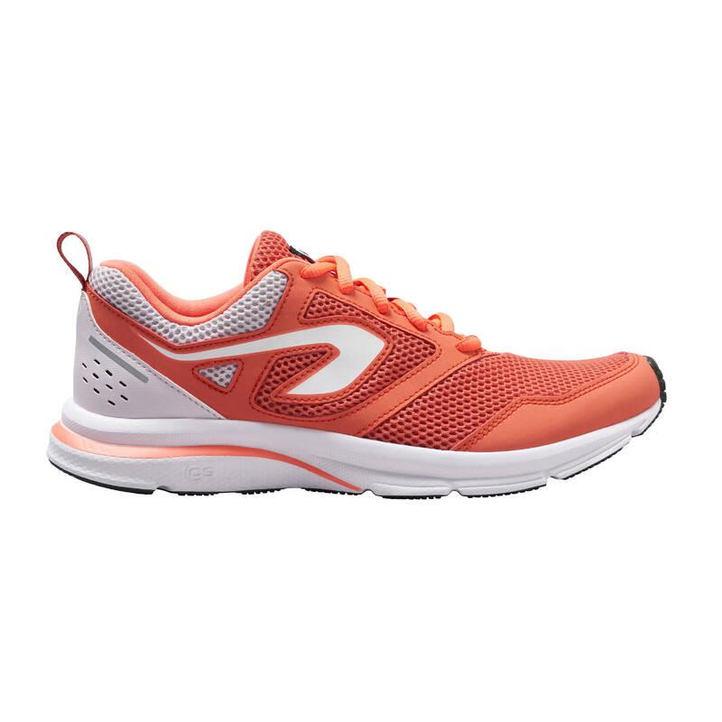 DÁMSKÉ BOTY NA JOGGING - PŘÍLEŽITOSTNÉ POUŽITÍ Běh - BOTY RUN ACTIVE ORANŽOVÉ  KALENJI - Běžecká obuv