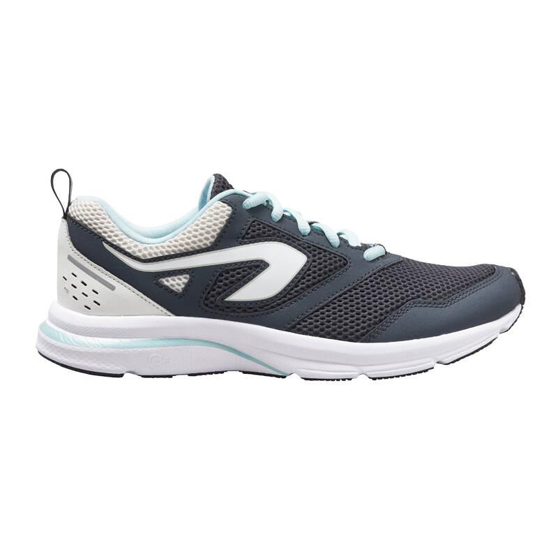 DÁMSKÉ BOTY NA JOGGING - PŘÍLEŽITOSTNÉ POUŽITÍ Běh - BĚŽECKÉ BOTY RUN ACTIVE ŠEDÉ  KALENJI - Běžecká obuv