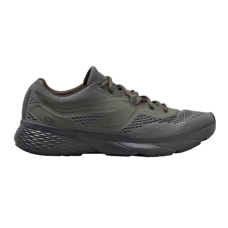 PÁNSKÉ BOTY NA JOGGING - PRAVIDELNÉ POUŽITÍ Běh - BOTY RUN SUPPORT KHAKI KALENJI - Běžecká obuv