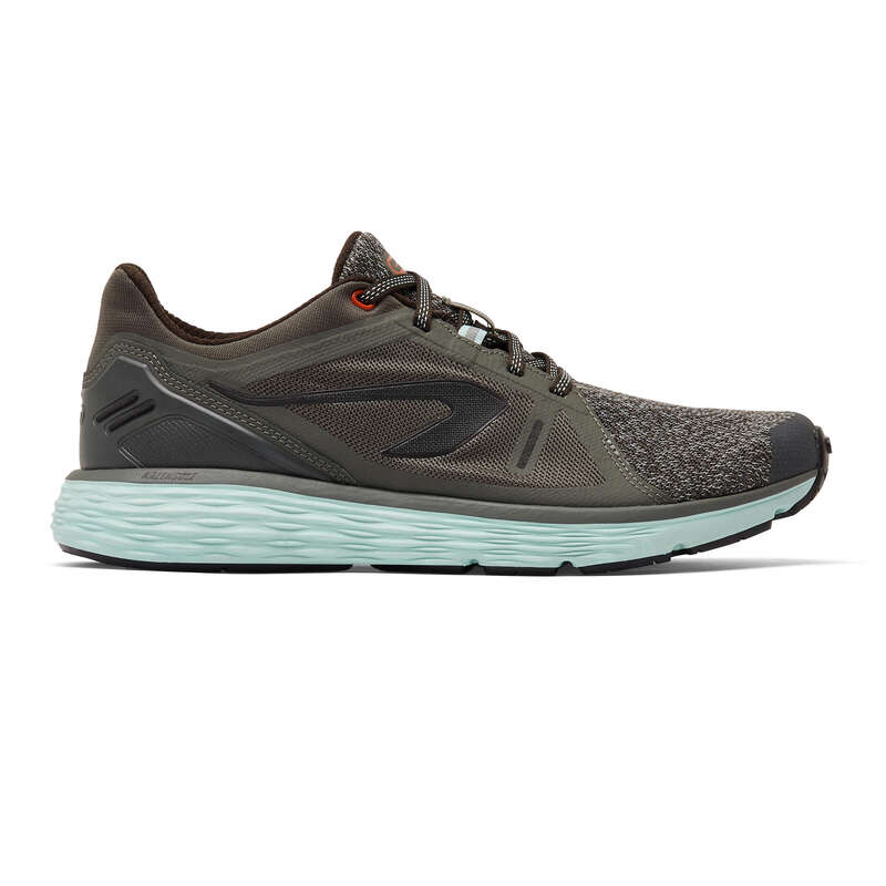 MUŠKA OBUĆA ZA REDOVITI JOGGING Trčanje - Tenisice Confort muške kaki  KALENJI - Tenisice za trčanje