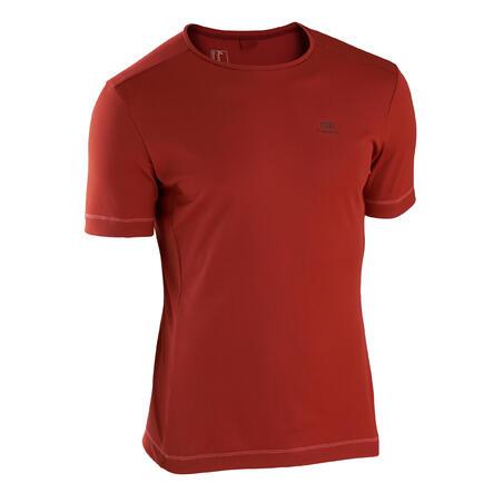 Playera Running Kalenji Dry Hombre Rojo Ladrillo Transpirable