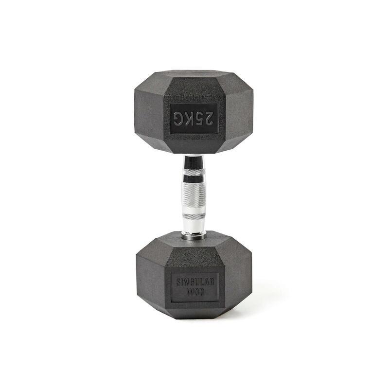 Mancuerna Hexagonal HEX Dumbbell 25kg. Singular WodMusculación Cross Fitness