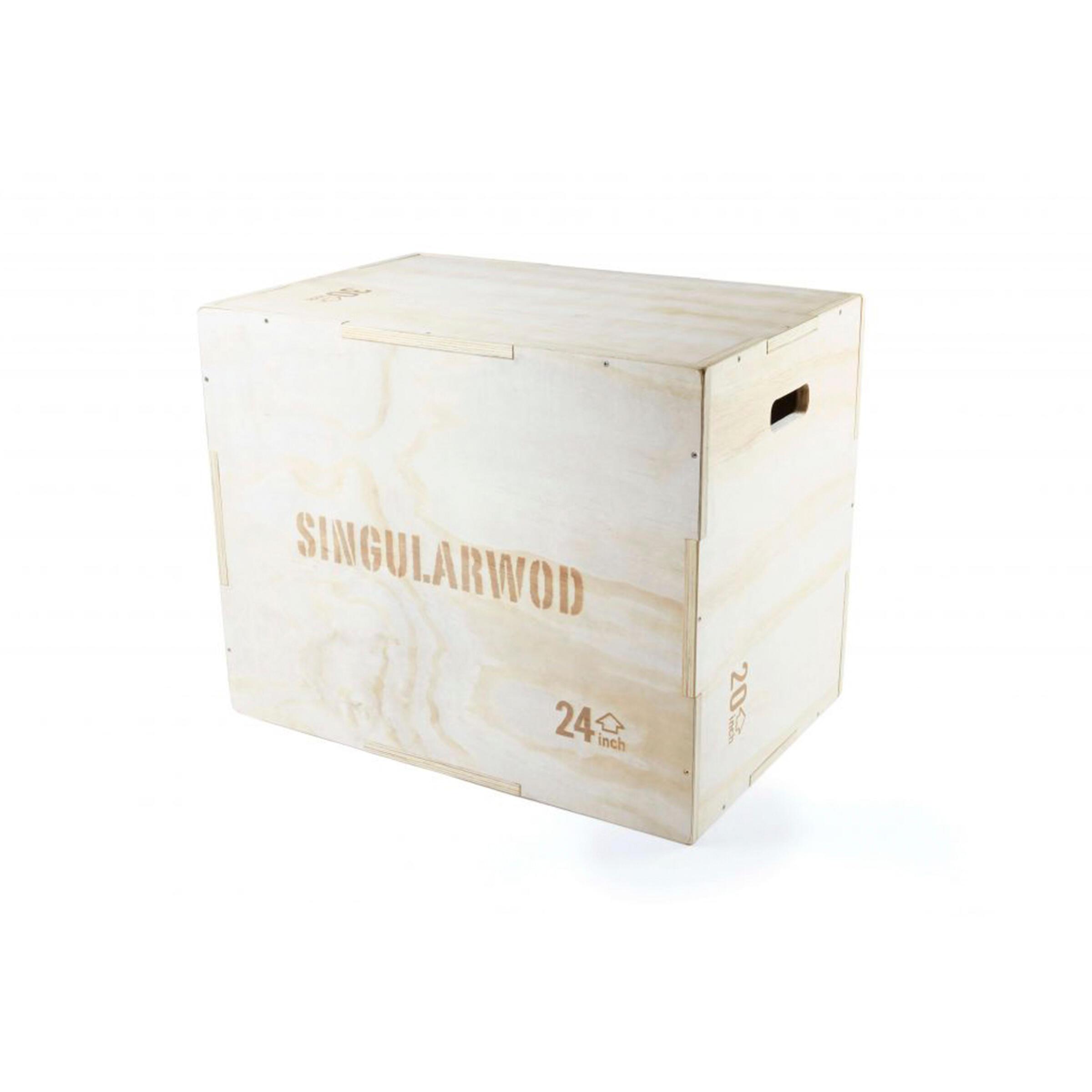 Jump Box cajon pliométrico cross training musculación madera Singular Wod