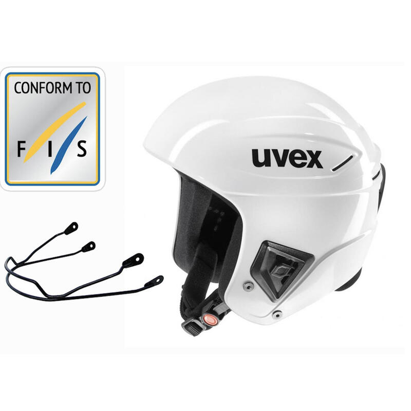 Závodní helma s chráničem brady Race+ bílá