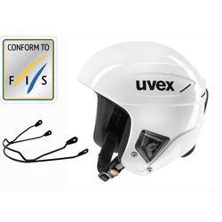 Capacete de Ski de Competição com Correia de Queixo UVEX RACE+ Branco