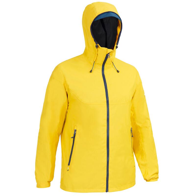 Veste imperméable de voile - veste de pluie coupe vent SAILING 100 Jaune