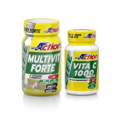 Special pack immunitario LIFE MULTIVIT FORTE 60 cpr + Vita C 1000 Tablets 60 cpr