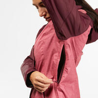 MH100 waterproof hiking jacket - Women