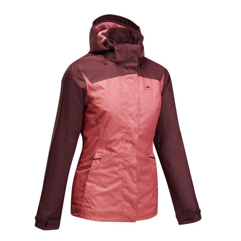 Women's waterproof mountain walking jacket MH100