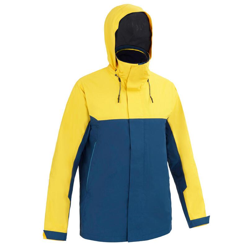 Jachetă Impermeabilă Navigație Sailing 300 Galben-Albastru Bărbați