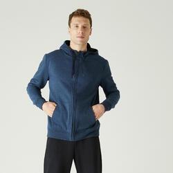Chaqueta con capucha Training Hombre 500 azul