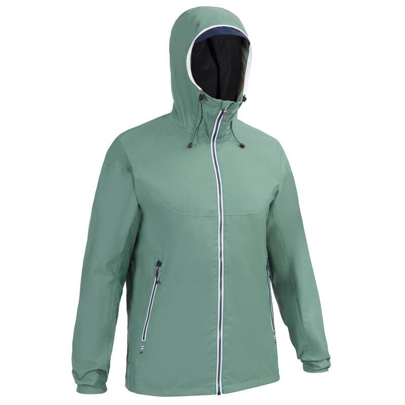 Veste imperméable de voile - veste de pluie coupe vent SAILING 100 Khaki