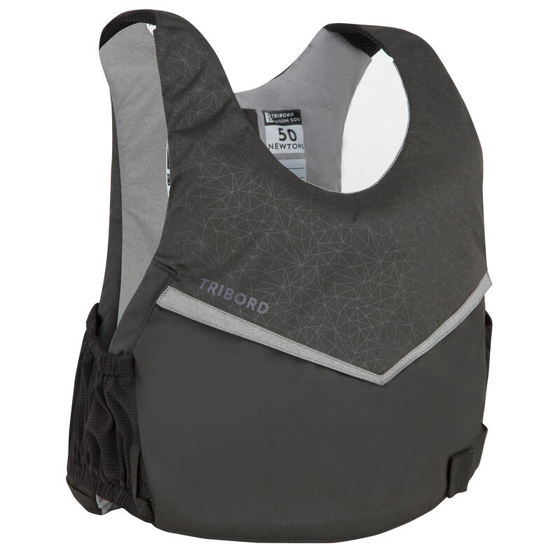 Dinghy Sailing 50N buoyancy aid vest 500 - Black