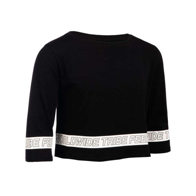 Lány modern és street dance ruházat Tánc, torna - Lány póló modern tánchoz DOMYOS - Fitness - DOMYOS