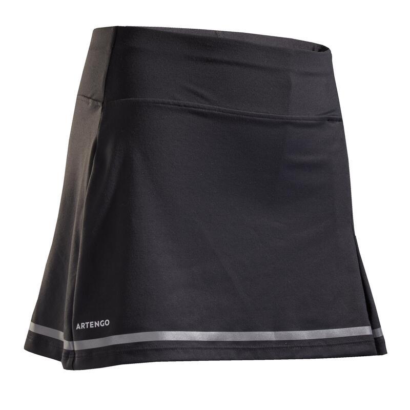 女孩款網球短裙900 - 灰色