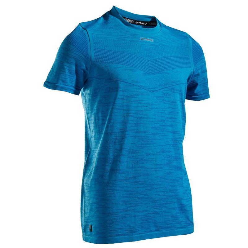 T-shirt tennis junior 900 azzurra