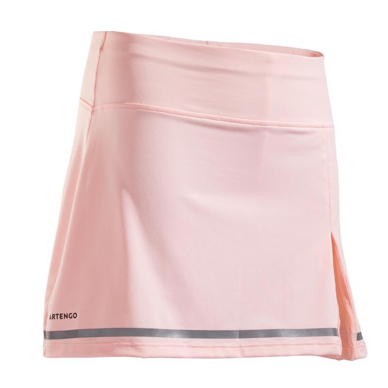 女孩款網球短裙900-粉紅色
