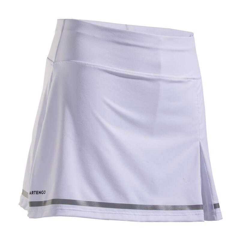 JUPE TENNIS FILLE 900 BLANCHE