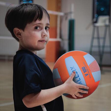 Balón de voleibol V100 Azul y verde